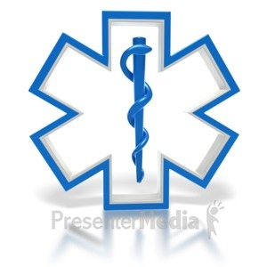 ID# 1791 - Star of Life Medical Symbol  - Presentation Clipart