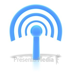 ID# 1834 - wifi wireless internet symbol  - Presentation Clipart