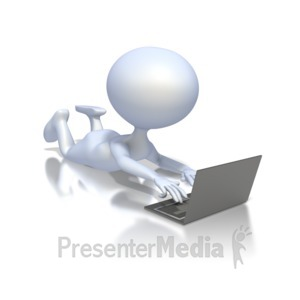 ID# 1846 - Student With Laptop - Presentation Clipart