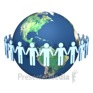 ID# 1848 - Global Teamwork - Presentation Clipart