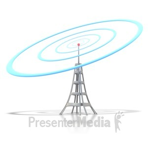 ID# 1851 - Mobile Tower Signal - Presentation Clipart