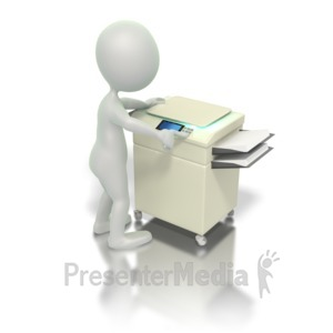 ID# 1886 - Operating Copy Machine - Presentation Clipart