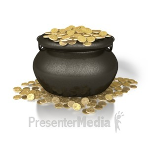 ID# 1891 - Pot Of Gold - Presentation Clipart