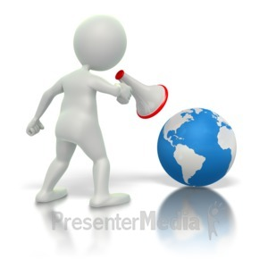 ID# 1907 - Yelling At Earth  - Presentation Clipart