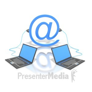ID# 1916 - Plugged Into Email - Presentation Clipart