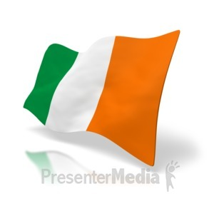 ID# 1933 - Flag Of Ireland - Presentation Clipart