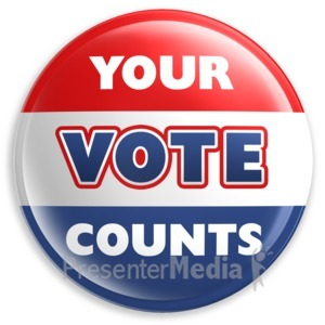 ID# 1961 - Badge Button Your Vote Counts - Presentation Clipart