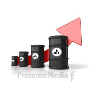 ID# 1979 - Rising Cost Of Oil - Presentation Clipart