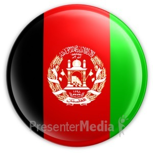 ID# 1980 - Badge of the Afghanistan Flag - Presentation Clipart