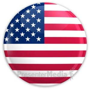 ID# 1989 - Badge of The United States Flag - Presentation Clipart