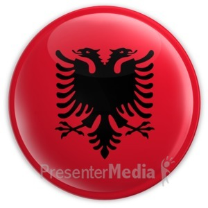 ID# 2019 - Badge of the Albanian Flag - Presentation Clipart