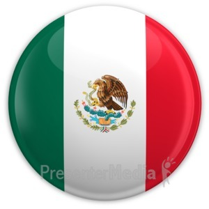 ID# 2021 - Badge of the Mexican Flag - Presentation Clipart