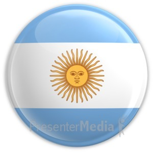 ID# 2023 - Badge of Argentina's Flag - Presentation Clipart