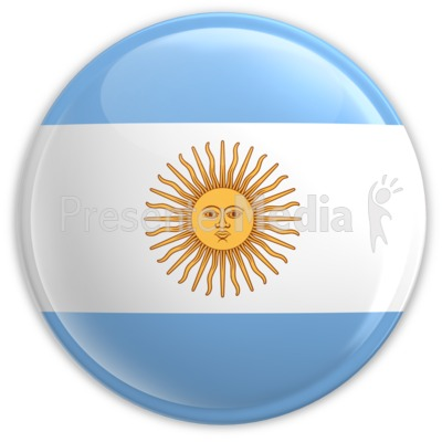Badge of Argentina's Flag PowerPoint Clip Art