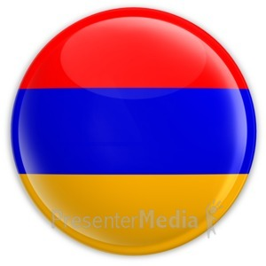 ID# 2024 - Badge of the Armenian Flag - Presentation Clipart