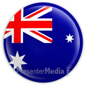 ID# 2026 - Badge of the Australian Flag - Presentation Clipart