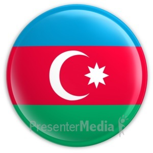 ID# 2028 - Badge of the Azerbaijan Flag - Presentation Clipart