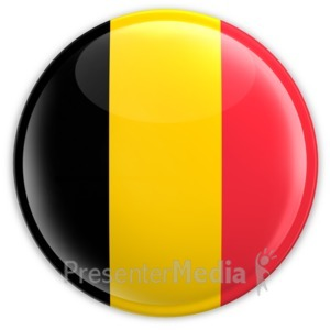 ID# 2033 - Badge of the Belgium Flag - Presentation Clipart