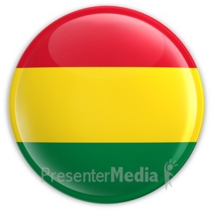 ID# 2034 - Badge of the Bolivian Flag - Presentation Clipart