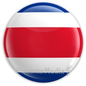 ID# 2038 - Badge of the Costa Rican Flag - Presentation Clipart