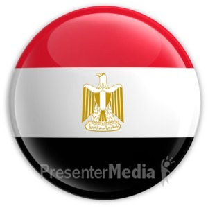 ID# 2045 - Badge of the Egyptian Flag - Presentation Clipart