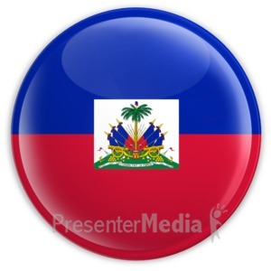ID# 2047 - Badge of the Flag of Haiti - Presentation Clipart