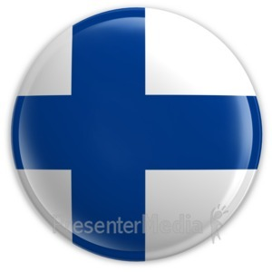 ID# 2050 - Badge of the Flag of Finland - Presentation Clipart
