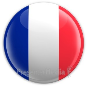 ID# 2052 - Badge of the French Flag - Presentation Clipart