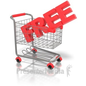 ID# 2098 - Free Shopping Cart - Presentation Clipart