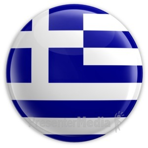 ID# 2101 - Badge of the Flag of Greece - Presentation Clipart