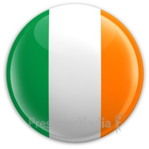 ID# 2106 - Badge of the Flag of Ireland - Presentation Clipart