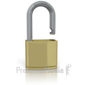 ID# 2147 - Unsecure Lock - Presentation Clipart