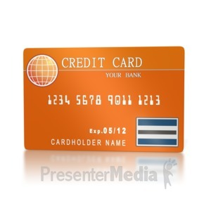 ID# 2157 - Banking Credit Card  - Presentation Clipart