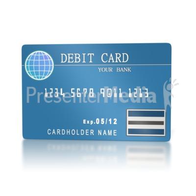plastic debit card