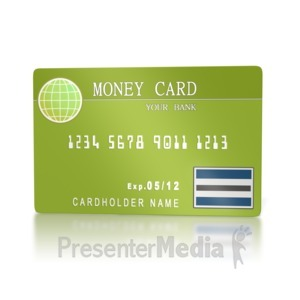 ID# 2159 - Bank Money Card  - Presentation Clipart