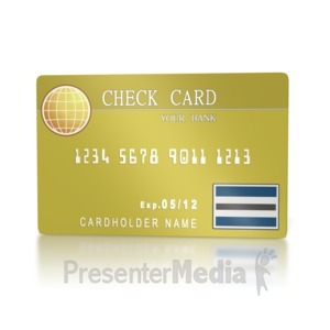 ID# 2160 - Bank Check Card  - Presentation Clipart