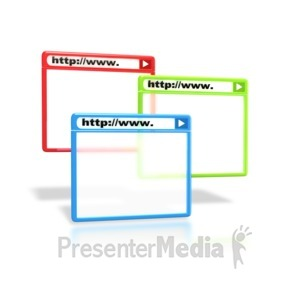 ID# 2165 - Browser Windows  - Presentation Clipart
