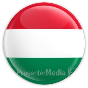 ID# 2176 - Badge of the Flag of Hungary - Presentation Clipart