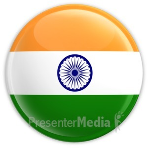 ID# 2177 - Badge of the Flag of India - Presentation Clipart