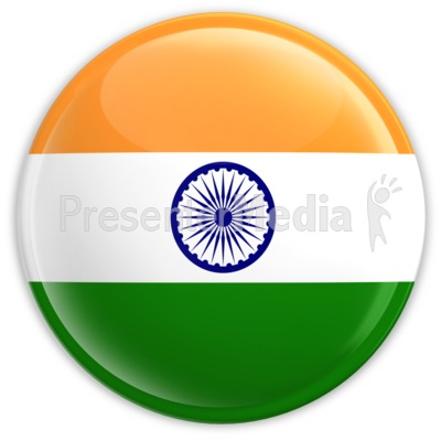Badge of the Flag of India PowerPoint Clip Art
