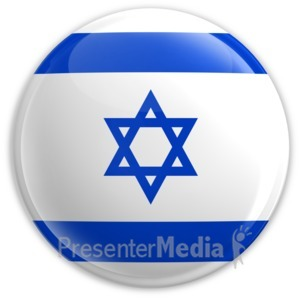 ID# 2179 - Badge of the Flag of Israel - Presentation Clipart