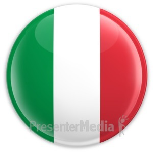 ID# 2183 - Badge of the Flag of Italy - Presentation Clipart