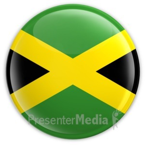ID# 2184 - Badge of the Flag of Jamaica - Presentation Clipart
