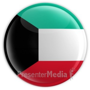 ID# 2188 - Badge of the Flag of Kuwait - Presentation Clipart