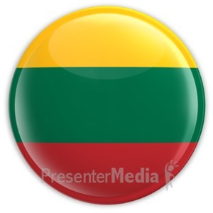 ID# 2192 - Badge of the Flag of Lithuania - Presentation Clipart