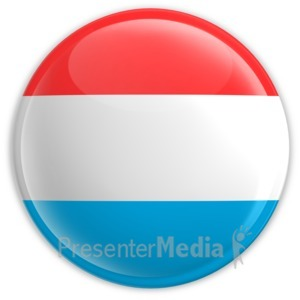 ID# 2193 - Badge of the Flag of Luxembourg - Presentation Clipart