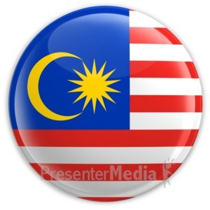 ID# 2194 - Badge of the Flag of Malaysia - Presentation Clipart