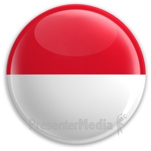 ID# 2195 - Badge of the Flag of Monaco - Presentation Clipart