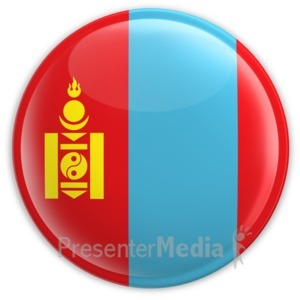 ID# 2196 - Badge of the Flag of Mongolia - Presentation Clipart