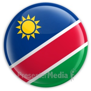 ID# 2197 - Badge of the Flag of Namibia - Presentation Clipart